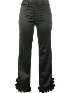 укороченные брюки с рюшами на манжетах Jour/Né