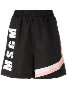 шорты с логотипом MSGM