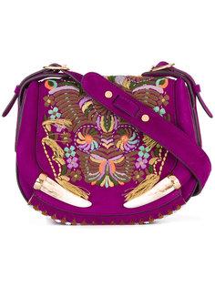 сумка на плечо с вышивкой Roberto Cavalli