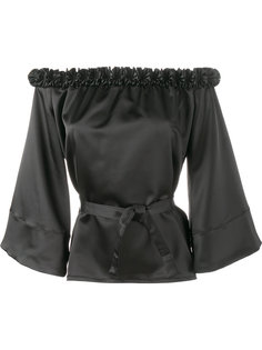 ruffle-trimmed off shoulder blouse Jour/Né