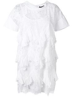 кружевное платье с плиссировкой Twin-Set