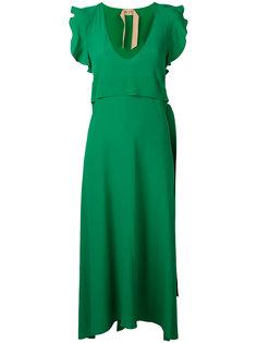 длинное платье с рюшами Nº21