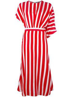 полосатое платье миди MSGM