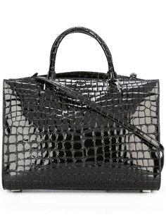 сумка на плечо с эффектом крокодиловой кожи Rochas