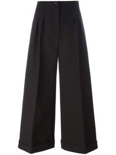 широкие брюки с завышенной талией Fendi