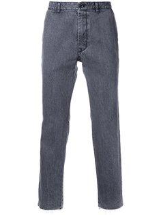 джинсы прямого кроя с бахромой Sacai