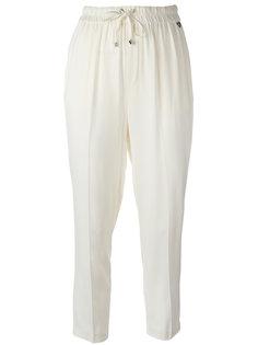 укороченные брюки с эластичным поясом Twin-Set