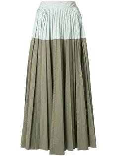 bicolour pleated skirt Lela Rose