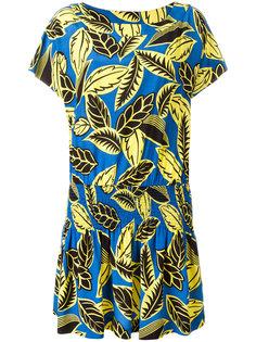 платье с лиственным принтом Boutique Moschino