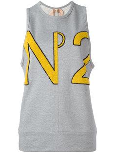 топ с фактурным логотипом  Nº21