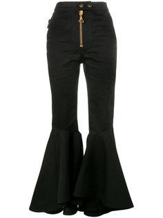 расклешенные брюки с завышенной посадкой Ellery