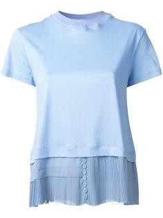 многослойная футболка с плиссировкой Carven