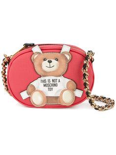 сумка через плечо с аппликацией медведя Moschino