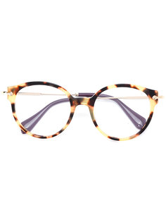оптические очки в круглой оправе Miu Miu Eyewear