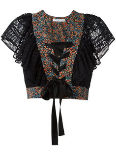 укороченная кружевная рубашка Philosophy Di Lorenzo Serafini