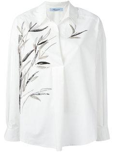 рубашка с вышивкой Blumarine