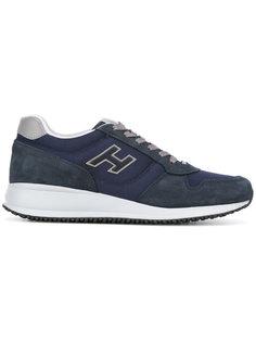 кроссовки с заплатками по бокам Hogan