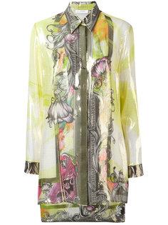 рубашка с комбинированным принтом Versace Collection