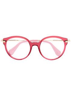 очки с круглой оправой  Miu Miu Eyewear