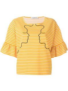 полосатая футболка с вышивкой Vivetta