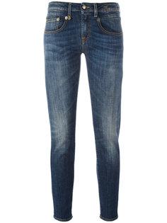 укороченные джинсы с клешем ниже колена R13