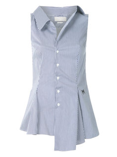 расклешенная рубашка без рукавов Monse