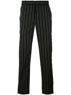 брюки прямого кроя в тонкую полоску Alexander McQueen