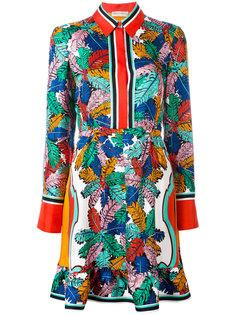 платье-рубашка с абстрактным принтом Emilio Pucci