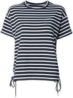 полосатая футболка со шнуровкой Sacai