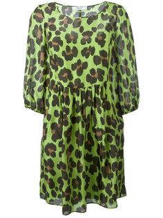 расклешенное платье с леопардовым принтом Blugirl