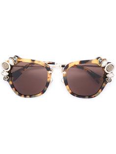 tortoiseshell oversized sunglasses Miu Miu Eyewear