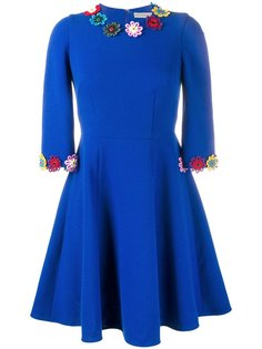 платье с цветочной аппликацией  Mary Katrantzou