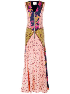 multi-print long dress Roksanda