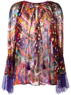 блузка с абстрактным принтом Roberto Cavalli