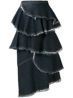 многослойная джинсовая юбка  Antonio Marras