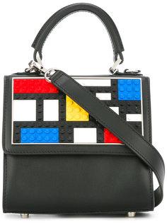 сумка-тоут с геометрическими панелями Les Petits Joueurs