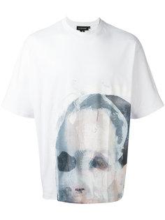 футболка с принтом лица Icosae