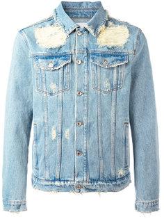 джинсовая куртка с потертой отделкой MSGM