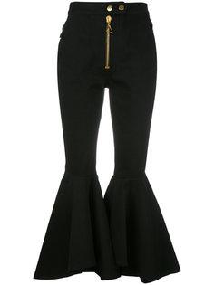 брюки палаццо с объемной молнией Ellery