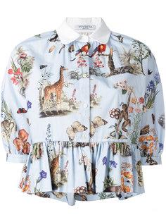блузка с принтом животным  Vivetta