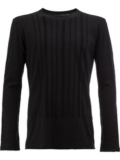 textured trim sweatshirt  Uma Wang