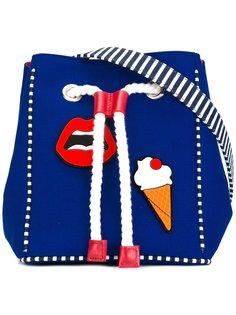 multi patched shoulder bag  Yazbukey