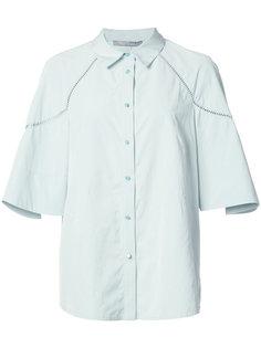 ruffled sleeves shirt Lela Rose