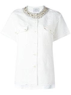 рубашка с заклепками на воротнике Forte Couture