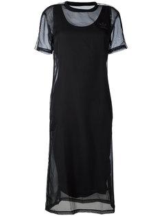 двухслойное платье с логотипом Adidas Originals