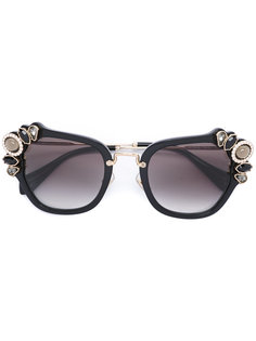 oversized glasses Miu Miu Eyewear