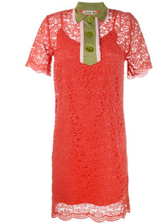 кружевное платье мини с контрастным воротником Jour/Né