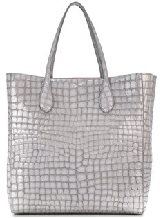 сумка-тоут с эффектом кожи крокодила Rochas