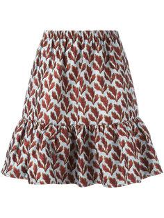 жаккардовая юбка с растительным принтом Philosophy Di Lorenzo Serafini