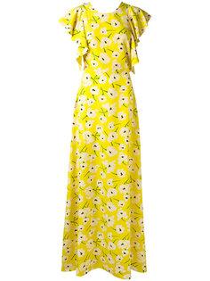 платье с цветочным узором Rochas